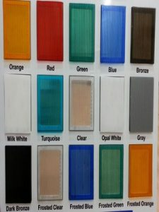 Polikarbon renk kartelası